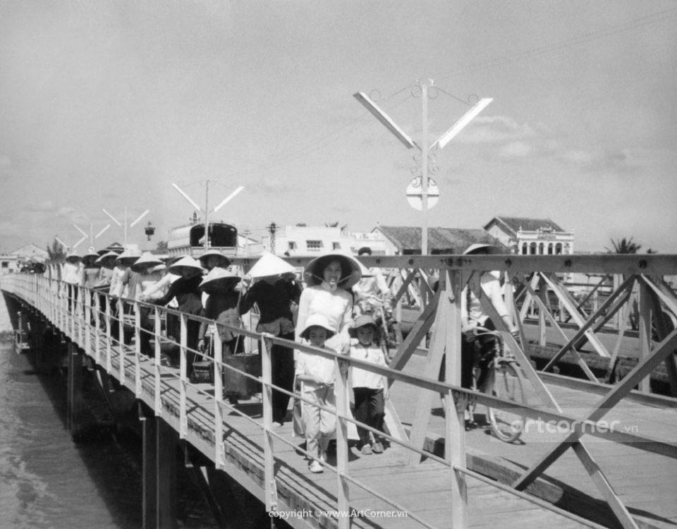 Phan Thiết xưa - Quan Bridge across Cà Ty River - Cầu Quan bắc qua sông Cà Ty - 1959