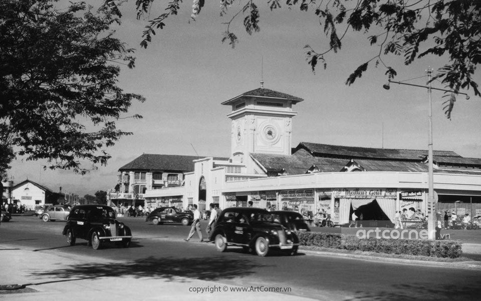 Sài Gòn xưa - Bến Thành Market - Chợ Bến Thành - Sài Gòn - 1957