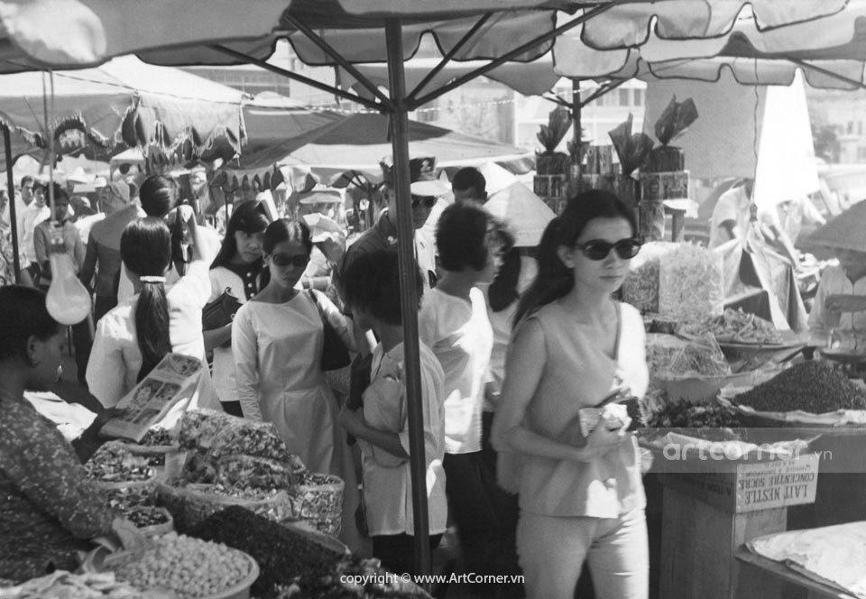 Sài Gòn xưa - Bến Thành Market - Chợ Bến Thành - Sài Gòn - 1969