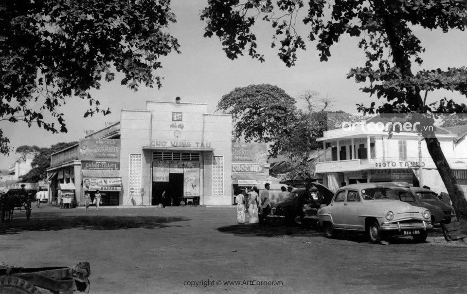 Vũng Tàu xưa - Cửa Tây chợ Vũng Tàu - West Gate of Vũng Tàu Market - 1962