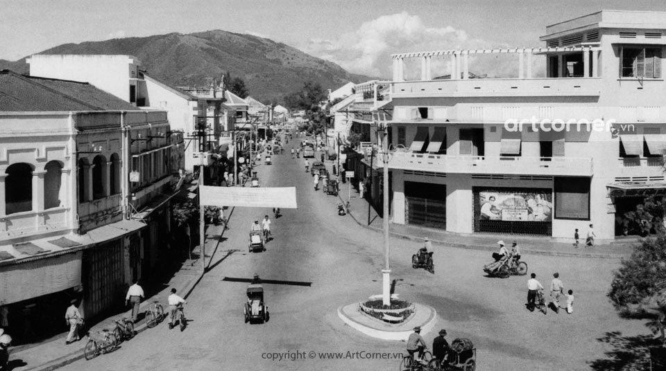 Nha Trang xưa - Cảnh đường phố ở Nha Trang - Street scene in Nha Trang - Nha Trang - 1958