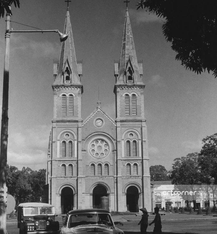 Sài Gòn xưa - Saigon Notre-Dame Cathedral Basilica - Nhà thờ Đức Bà - Sài Gòn - 1957