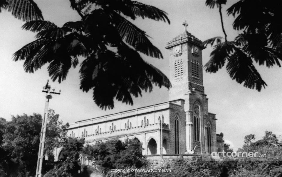Nha Trang xưa - Nhà thờ Chánh tòa Nha Trang - The Cethedral of Nha Trang - 1959
