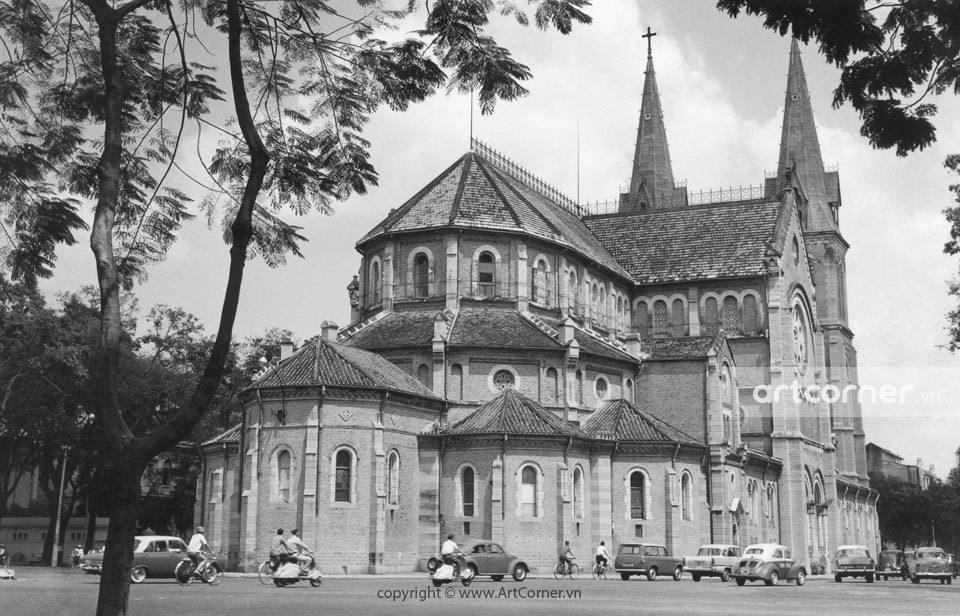 Sài Gòn xưa - Saigon Notre-Dame Cathedral Basilica - Nhà thờ Đức Bà - Sài Gòn - 1955