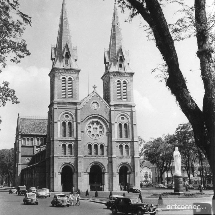 Sài Gòn xưa - Saigon Notre-Dame Cathedral Basilica - Nhà thờ Đức Bà - Sài Gòn - 1961