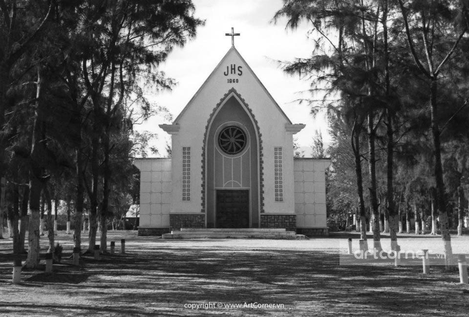 Nha Trang xưa - Nhà thờ Giáo Xứ Dục Mỹ - The church of Dục Mỹ parish - Ninh Hòa - 1963