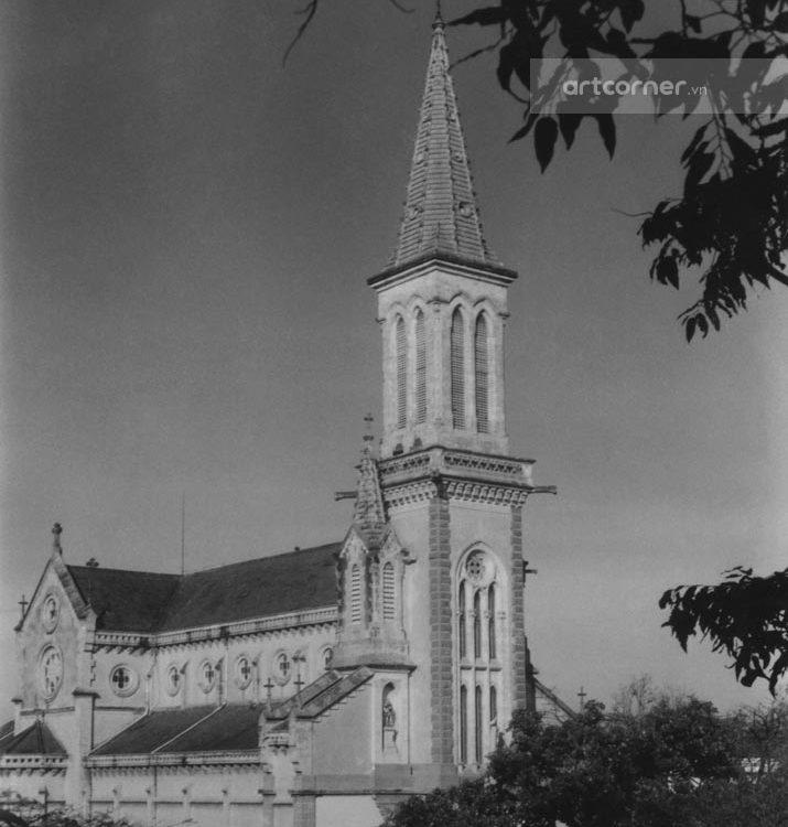 Sài Gòn xưa - Huyện Sỹ church - Nhà thờ Huyện Sỹ - Sài Gòn - 1958