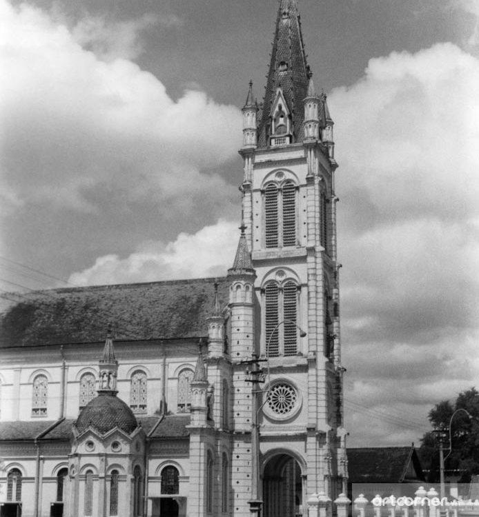 Sài Gòn xưa - Tân Định Church - Nhà thờ Tân Định - Sài Gòn - 1957