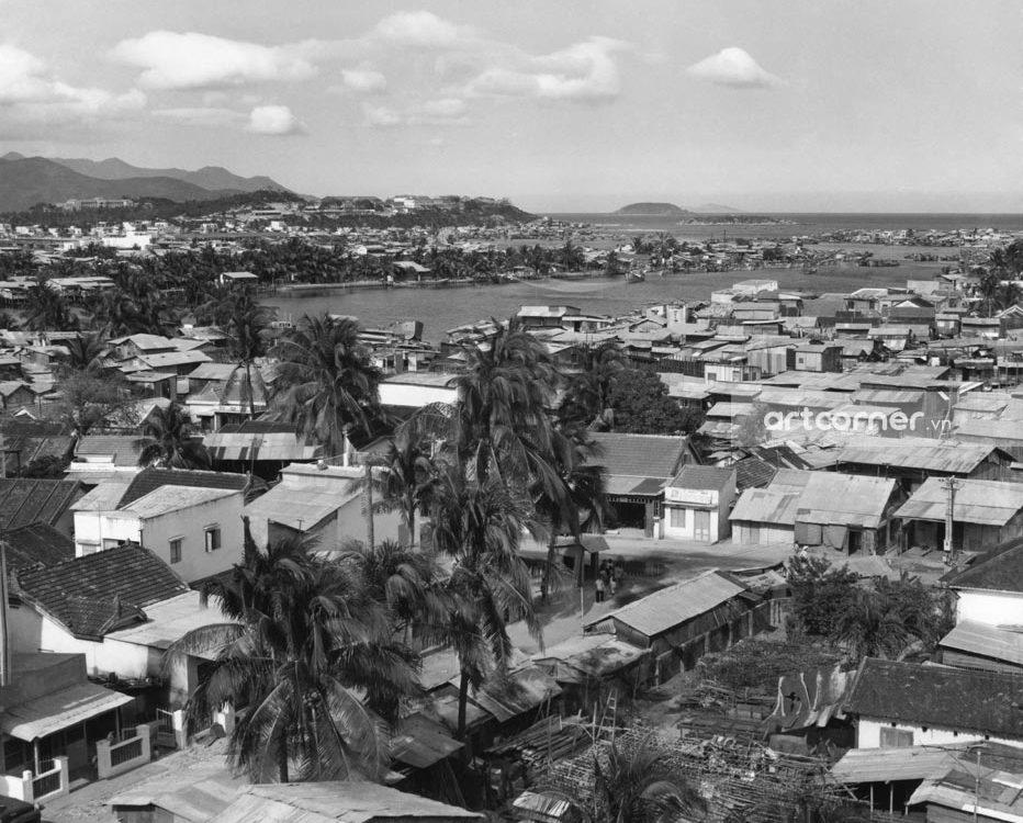 Nha Trang xưa - Sông Cái Nha Trang nhìn từ Núi Sinh Trung - Cái River seen from Sinh Trung Mount - Nha Trang - 1968