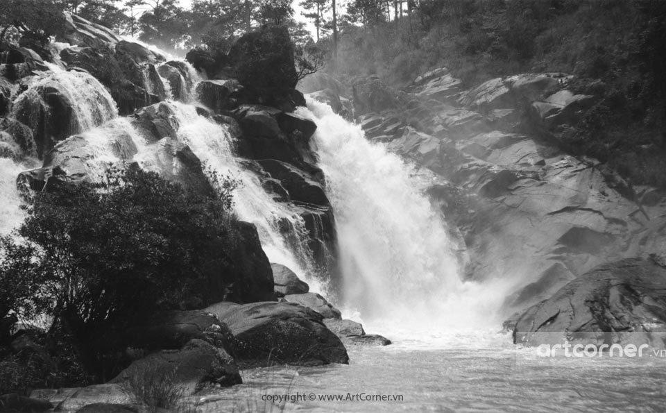 Đà Lạt xưa - Thác Ankroët - Ankroët waterfall - Đà Lạt - 1950