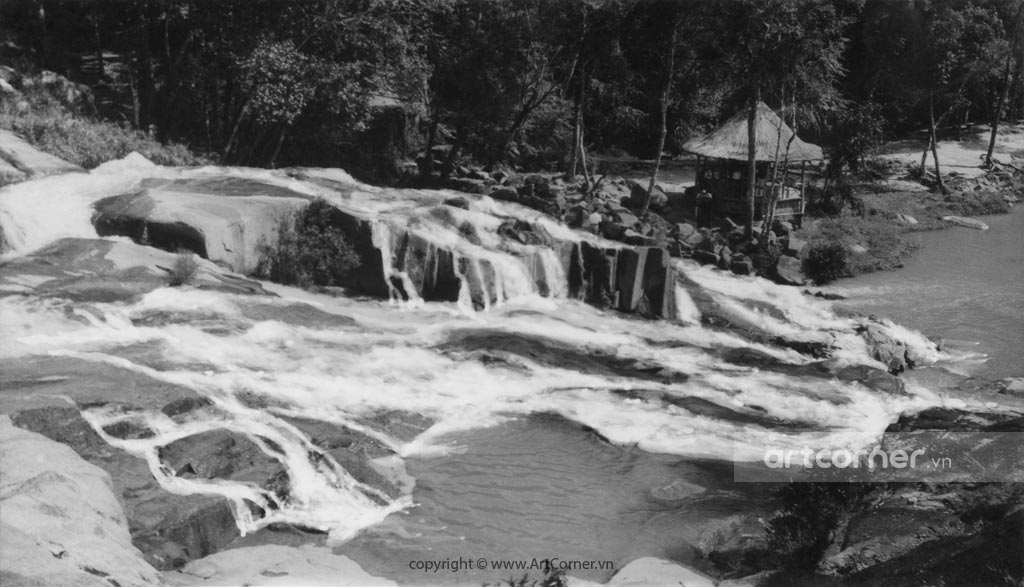 Đà Lạt xưa - Thác Cam Ly - Camly waterfall - Đà Lạt - 1957