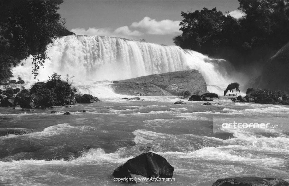 Đà Lạt xưa - Thác Gougah - Gougah waterfall - Đà Lạt - 1950