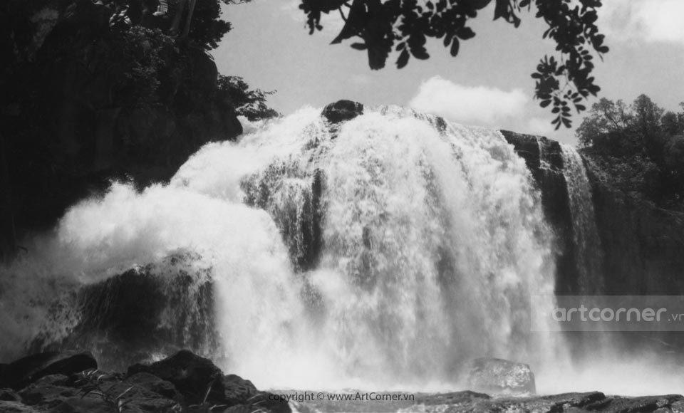 Đà Lạt xưa - Thác Gougah - Gougah waterfall - Đà Lạt - 1955