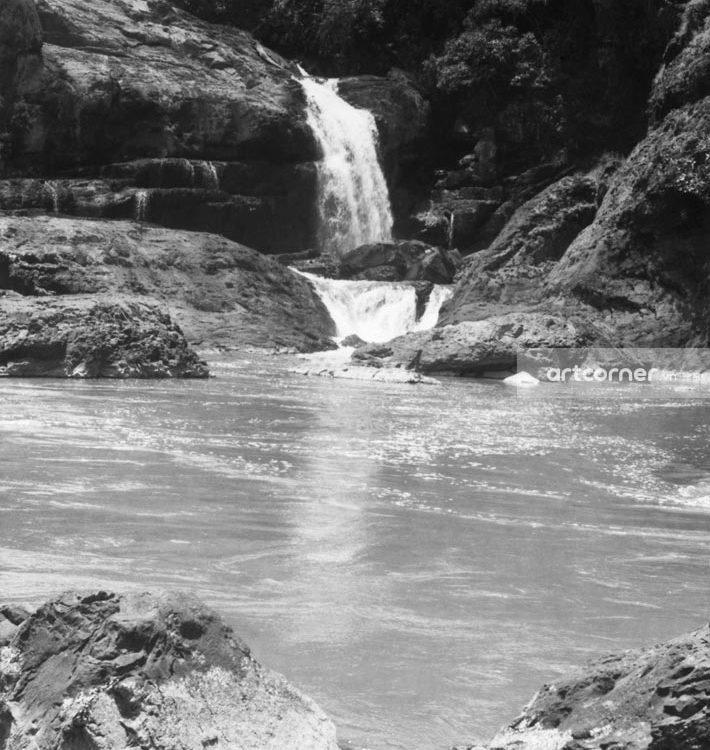 Đà Lạt xưa - Thác Liên Khàng - Liên Khàng waterfall - Đà Lạt - 1950