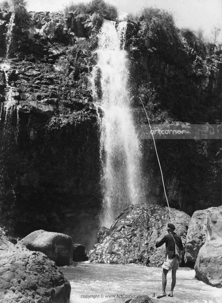 Đà Lạt xưa - Thác Liên Khàng - Liên Khàng waterfall - Đà Lạt - 1957