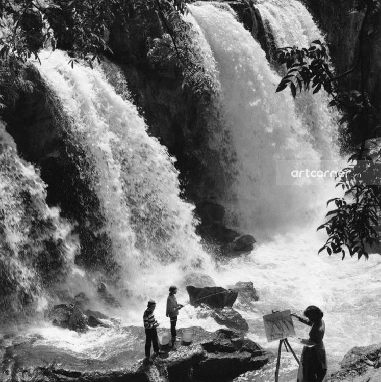 Đà Lạt xưa - Thác Liên Khàng - Liên Khàng waterfall - Đà Lạt - 1965
