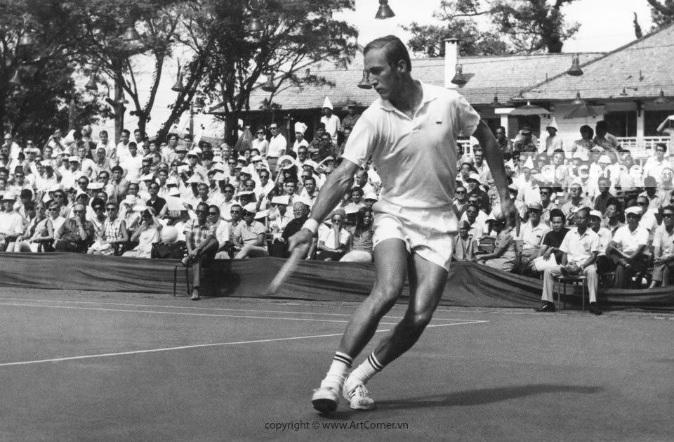 Sài Gòn xưa - Tennis tournament at Saigon Sports Club - Thi đấu quần vợt trong Câu lạc bộ Thể thao Sài Gòn - 1960s