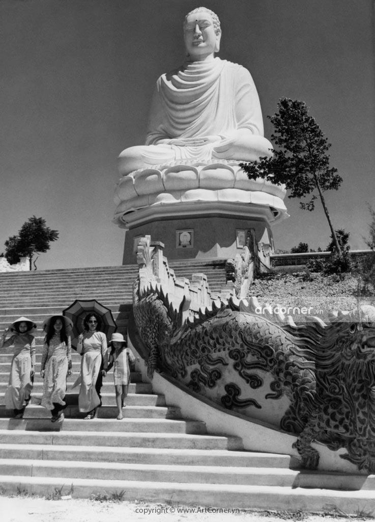 Nha Trang xưa - Thích Ca Phật Đài - The statue of Shakya Buddha - Nha Trang - 1966