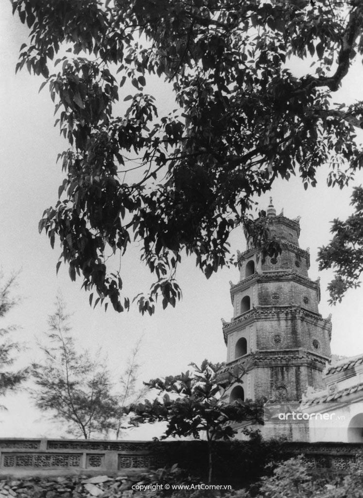 Huế xưa - Tháp Phước Duyên chùa Thiên Mụ - Huế - 1961