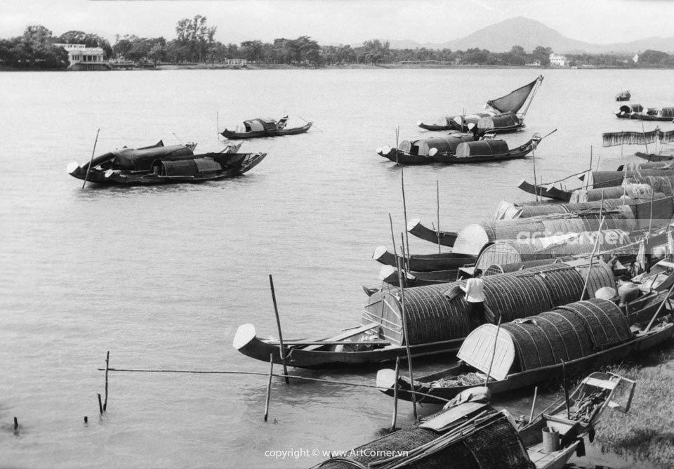 Huế xưa - Sông Hương - Hương River - Huế - 1961