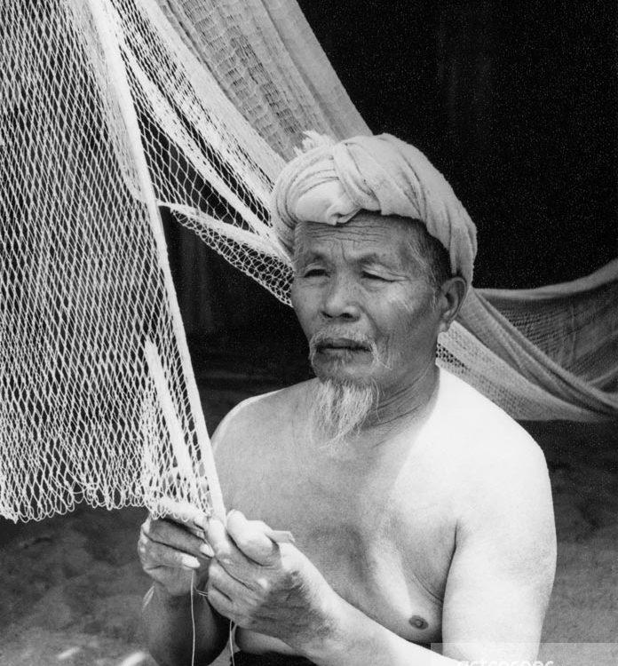 Nha Trang xưa - Đan lưới - Nha Trang - 1959