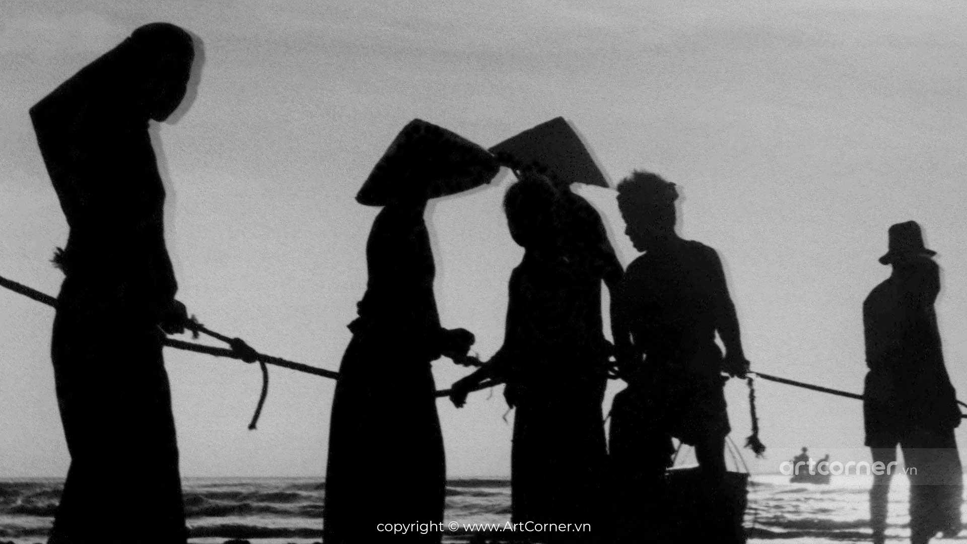 Nha Trang xưa - Kéo lưới trên biển Nha Trang - 1959