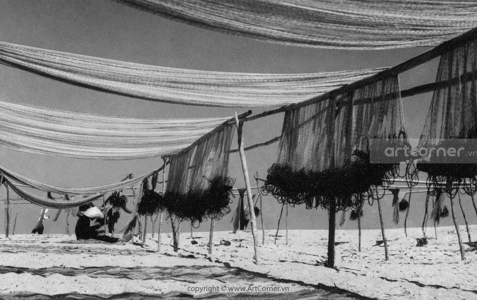 Nha Trang xưa - Phơi lưới - Nha Trang - 1959