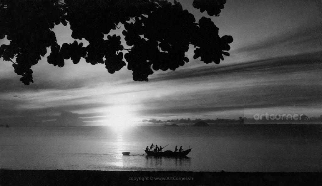 Nha Trang xưa - Biển Nha Trang - Nha Trang Beach - 1957