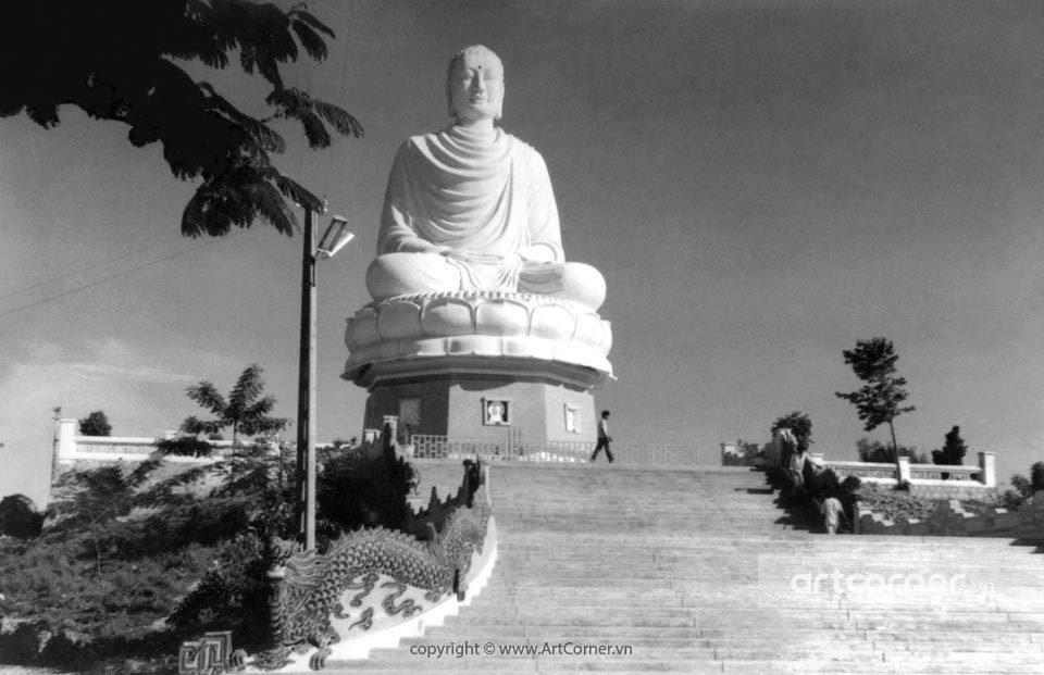 Nha Trang xưa - The statue of Shakya Buddha - Thích Ca Phật Đài - Nha Trang - 1966