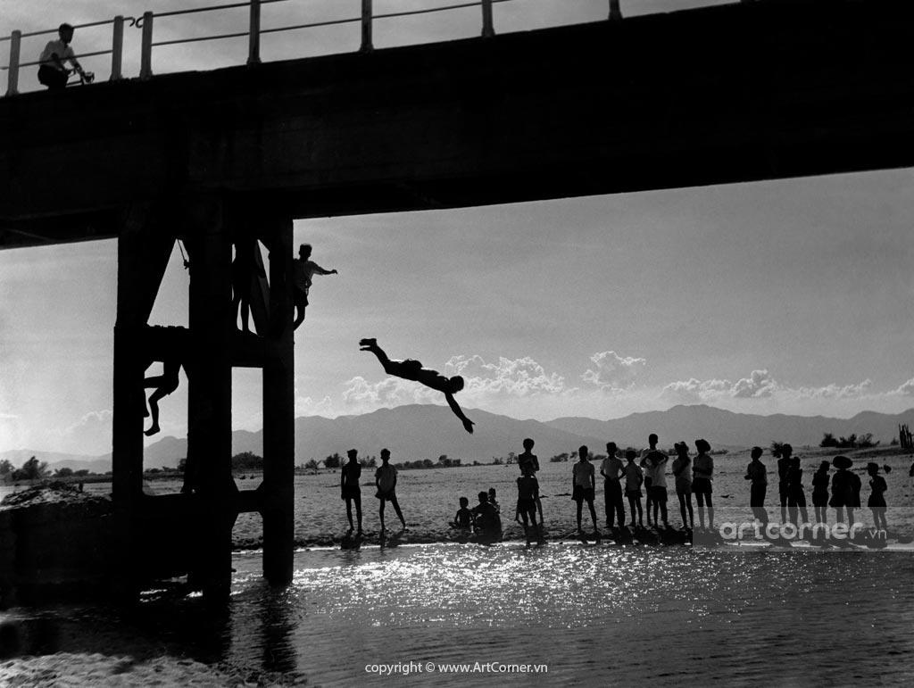 Ninh Thuận xưa - Sông Dinh và cầu Đạo Long - Dinh river and Đạo Long bridge - Ninh Thuận - 1960