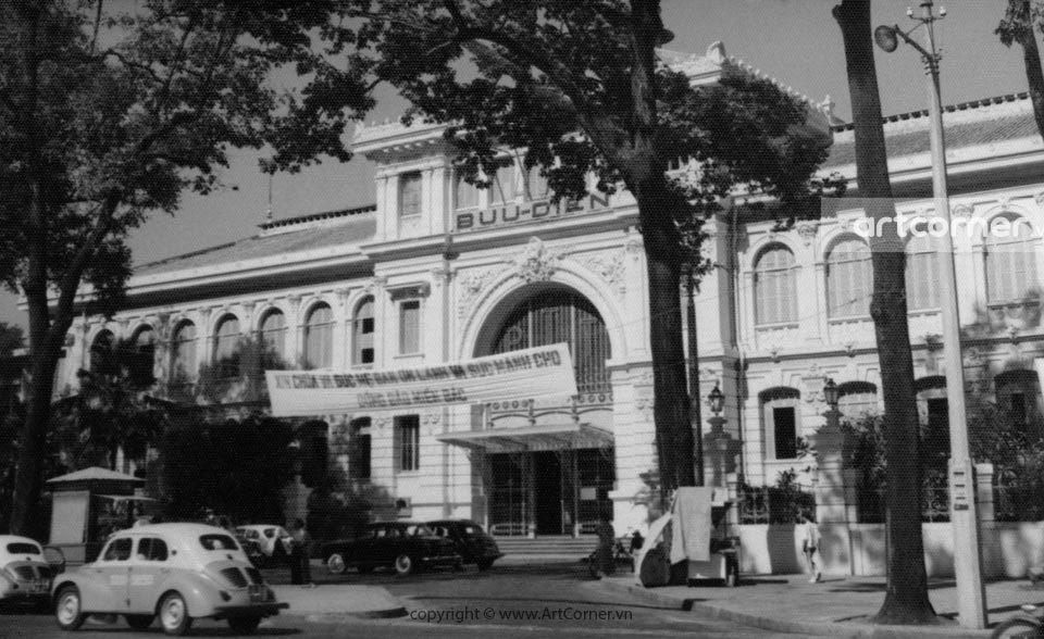 Sài Gòn xưa - Bưu điện Trung tâm Sài Gòn - Saigon Central Post Office - 1960s