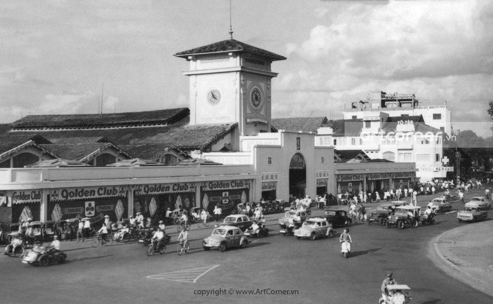 Sài Gòn xưa - Chợ Bến Thành - Bến Thành Market - Sài Gòn - 1950s