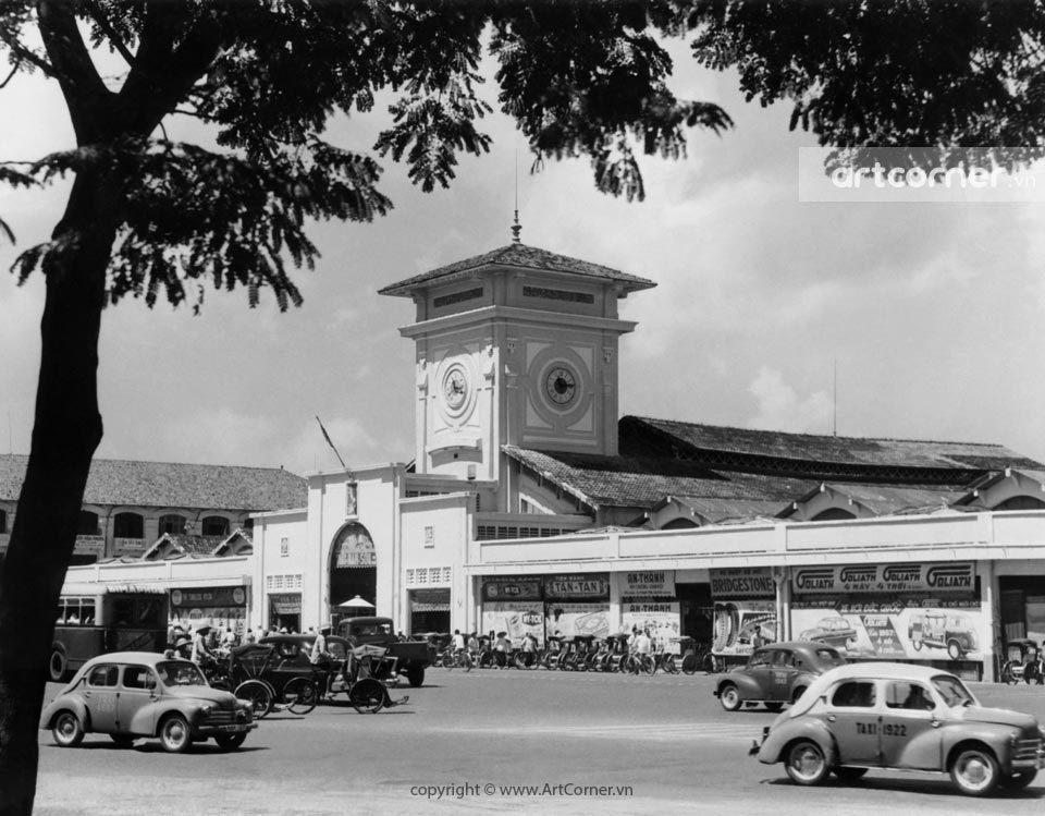 Sài Gòn xưa - Chợ Bến Thành - Bến Thành Market - Sài Gòn - 1957