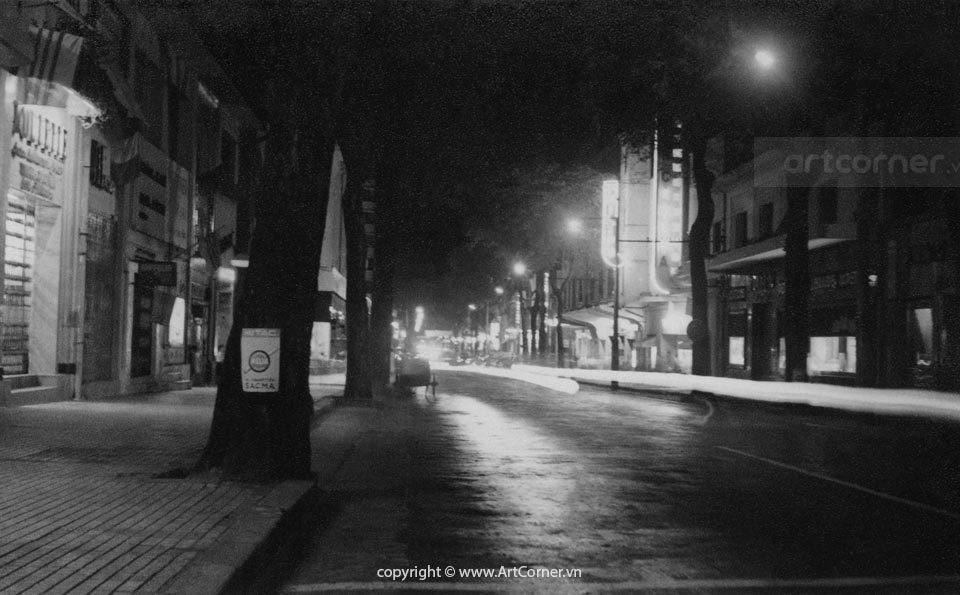 Sài Gòn xưa - Đêm trên đường Tự Do - Sài Gòn - 1960