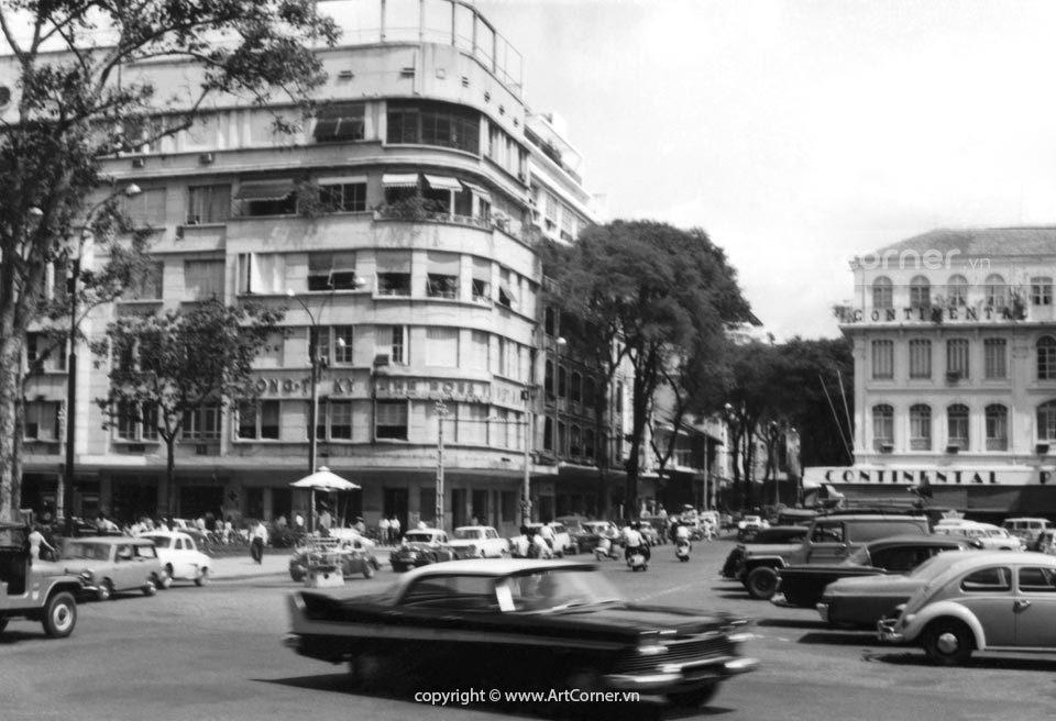 Sài Gòn xưa - Đường Tự Do (đường Đồng Khởi ngày nay) - Tự Do Street (Đồng Khởi street now) - Sài Gòn - 1960