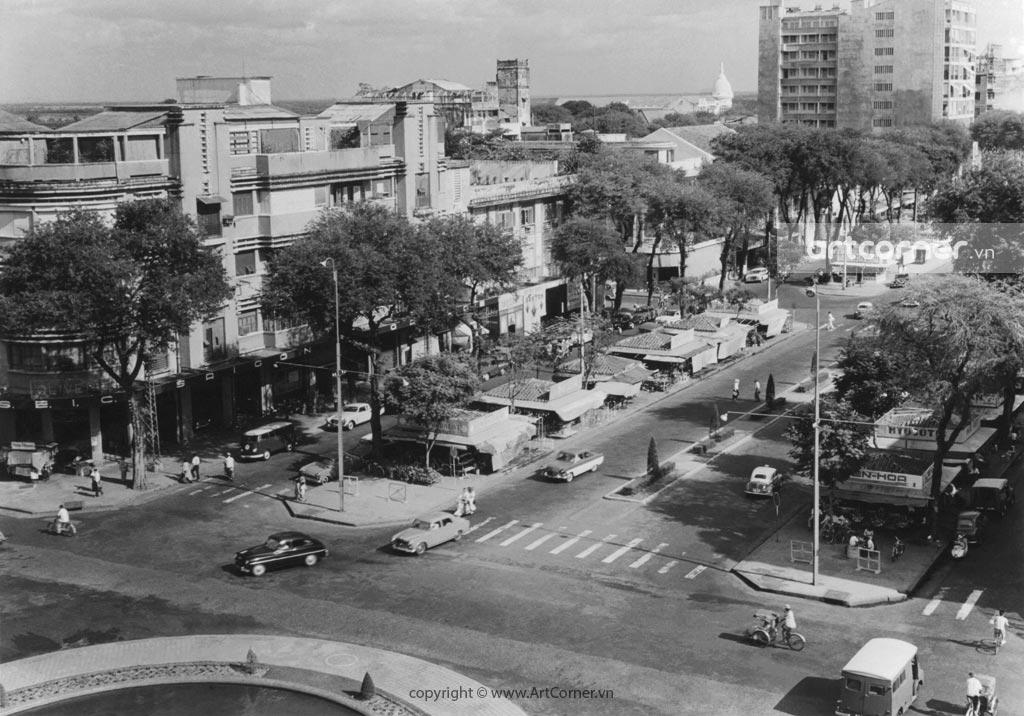 Sài Gòn xưa - Đại lộ Nguyễn Huệ nhìn từ khách sạn Rex - Sài Gòn - 1961