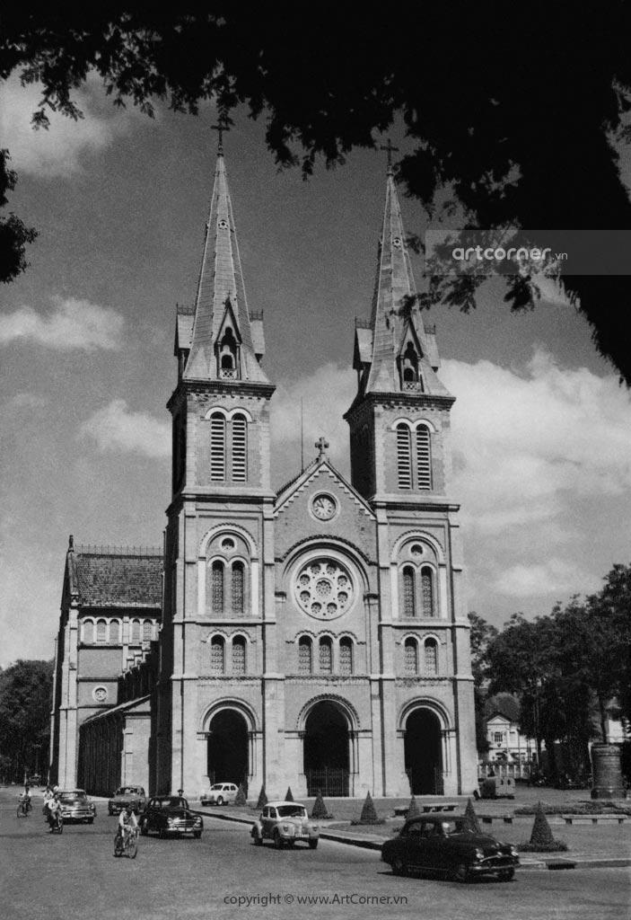 Sài Gòn xưa - Nhà thờ Đức Bà - Saigon Notre-Dame Cathedral Basilica - Sài Gòn - 1957
