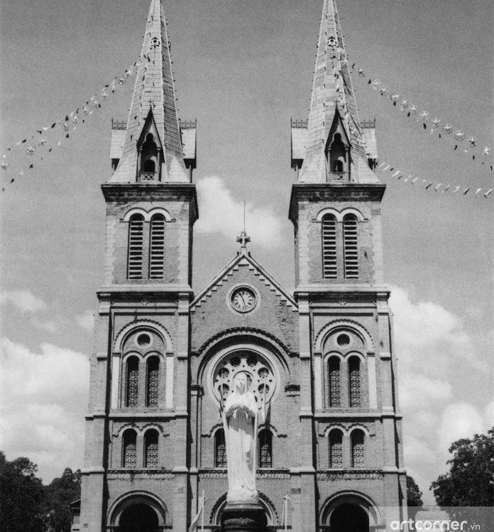 Sài Gòn xưa - Nhà thờ Đức Bà - Saigon Notre-Dame Cathedral Basilica - Sài Gòn - 1962