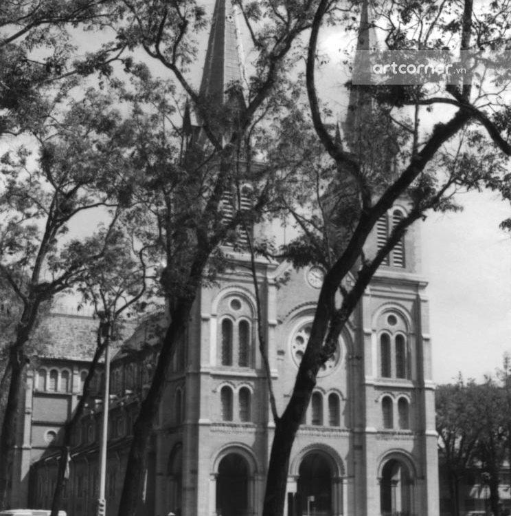 Sài Gòn xưa - Nhà thờ Đức Bà - Saigon Notre-Dame Cathedral Basilica - Sài Gòn - 1963