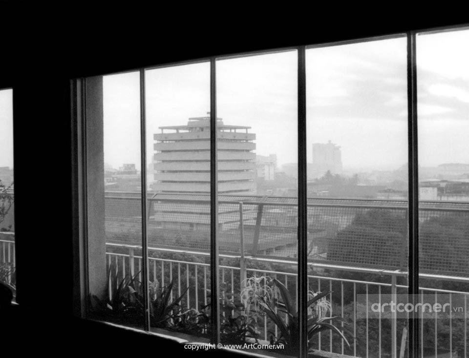 Sài Gòn xưa - Thư viện Quốc gia nhìn từ khách sạn Bến Nghé - 1977