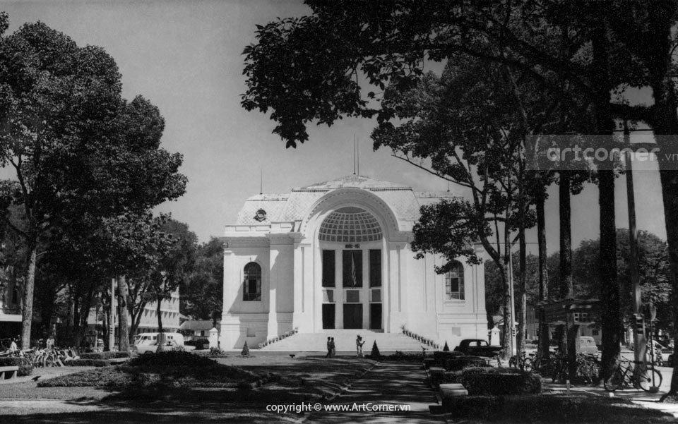 Sài Gòn xưa - Trụ sở Quốc hội và Công trường Lam Sơn - National Committee Hall and Lam Sơn Square - Sài Gòn - 1965