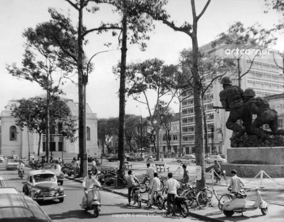 Sài Gòn xưa - Trụ sở Quốc hội và Công trường Lam Sơn - National Committee Hall and Lam Sơn Square - Sài Gòn - 1968