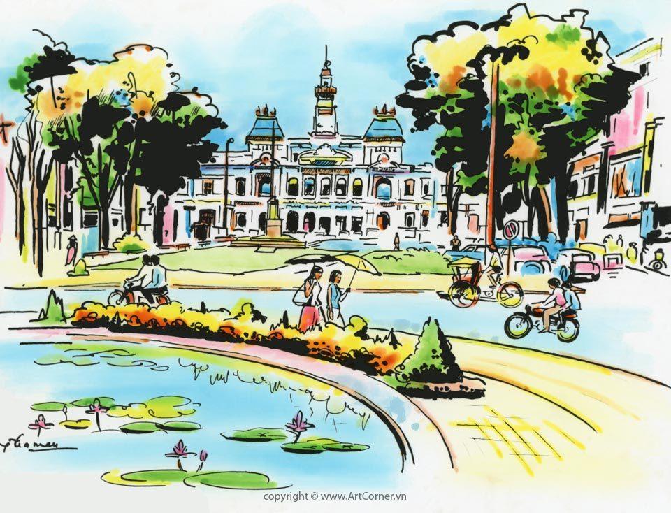 Sài Gòn xưa - Tòa Đô Chính - The Town Hall - Sài Gòn - 1966