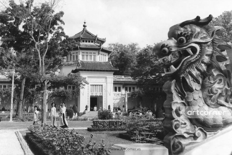 Sài Gòn xưa - Viện Bảo tàng và Đền Hùng Vương - The National Museum and King Hùng Temple - Sài Gòn - 1958
